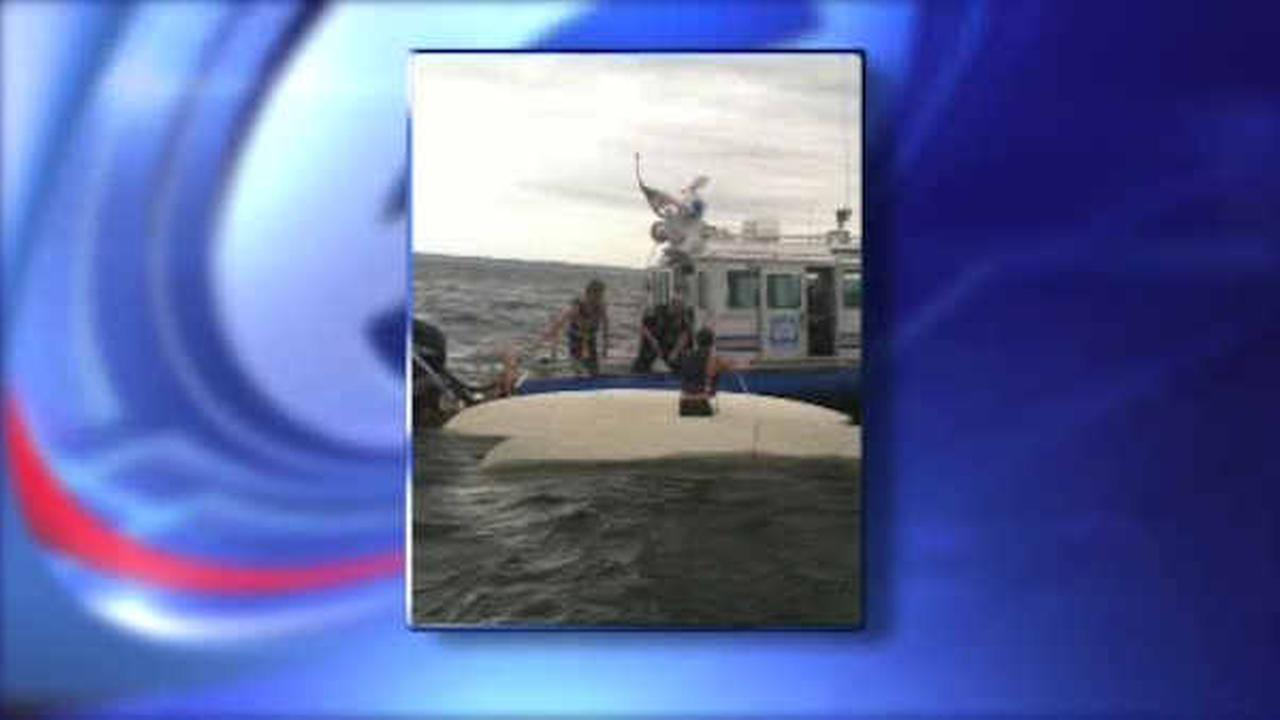 Teenagers rescued in Long Island Sound after boat overturns