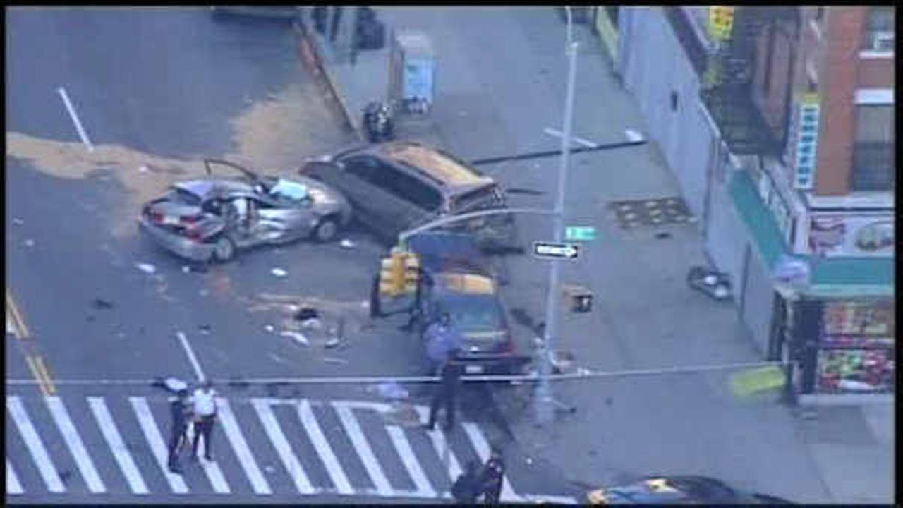 1 dead, 1 injured after cars collide in Washington Heights
