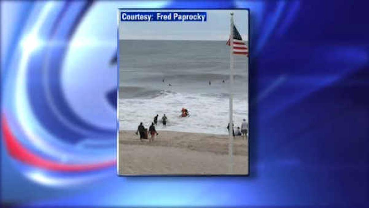 Surfer saves young girl caught in rip current in Seaside Heights, New Jersey