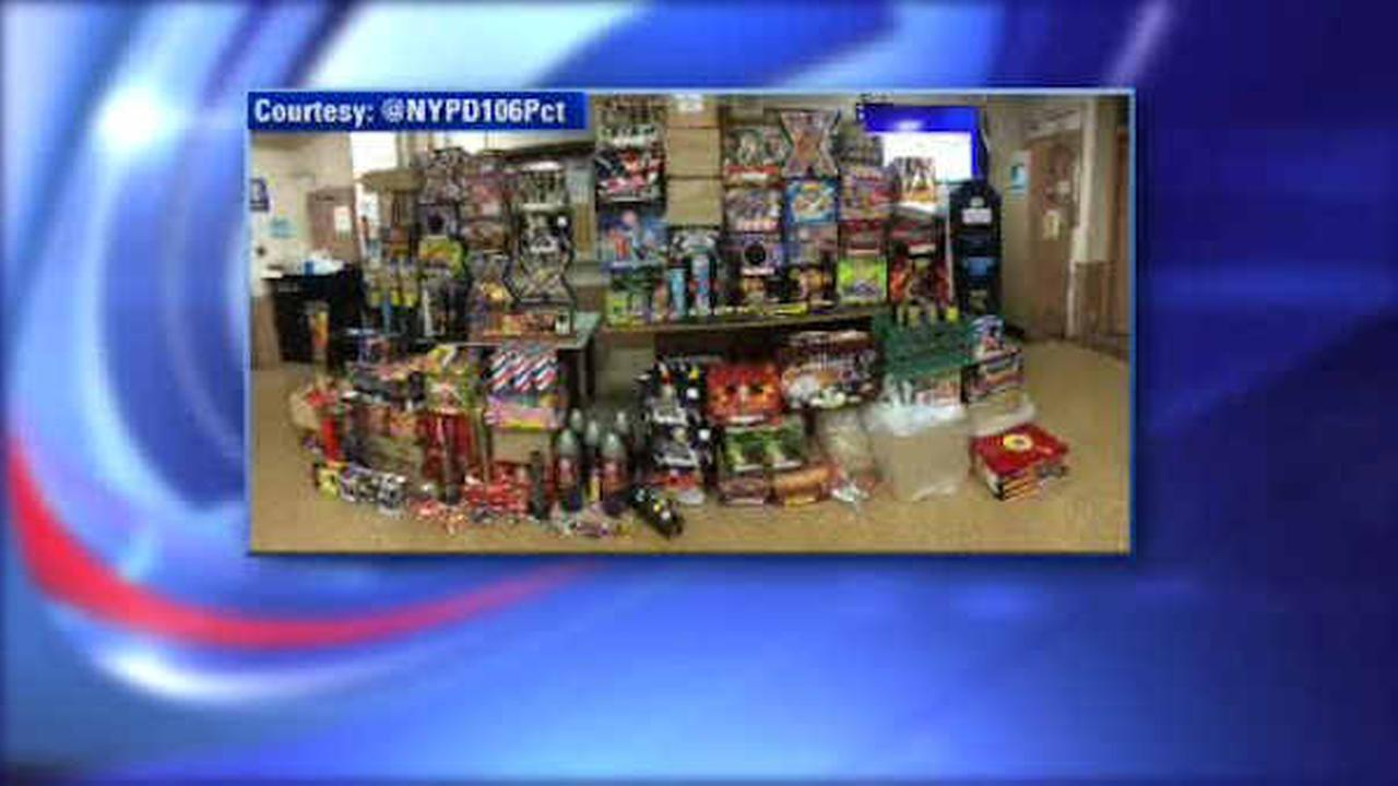 NYPD makes huge fireworks bust in raid on Queens garage