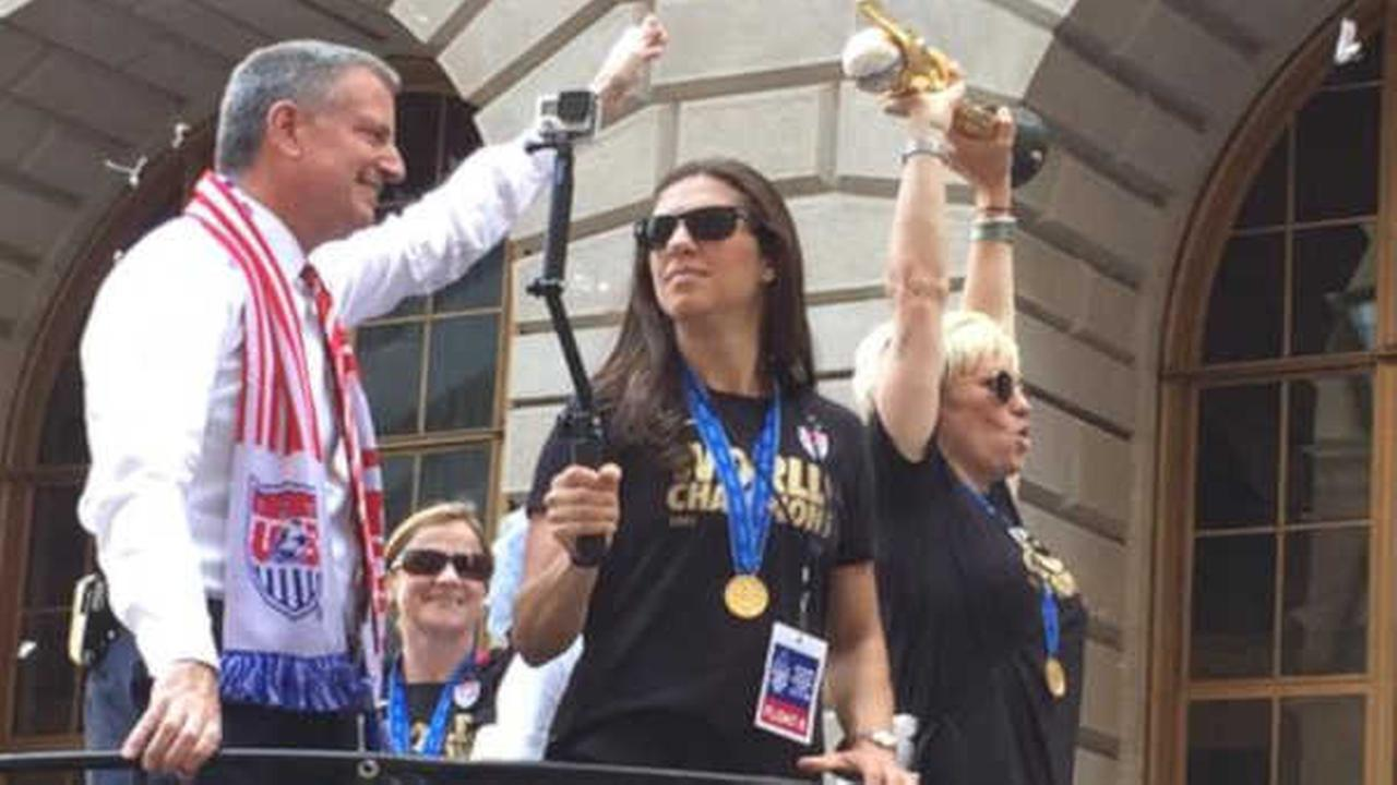 WATCH: Top moments from the US Women's World Cup Parade