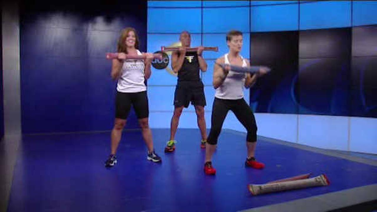 Fitfighter training uses fire hoses to help firefighters stay in shape