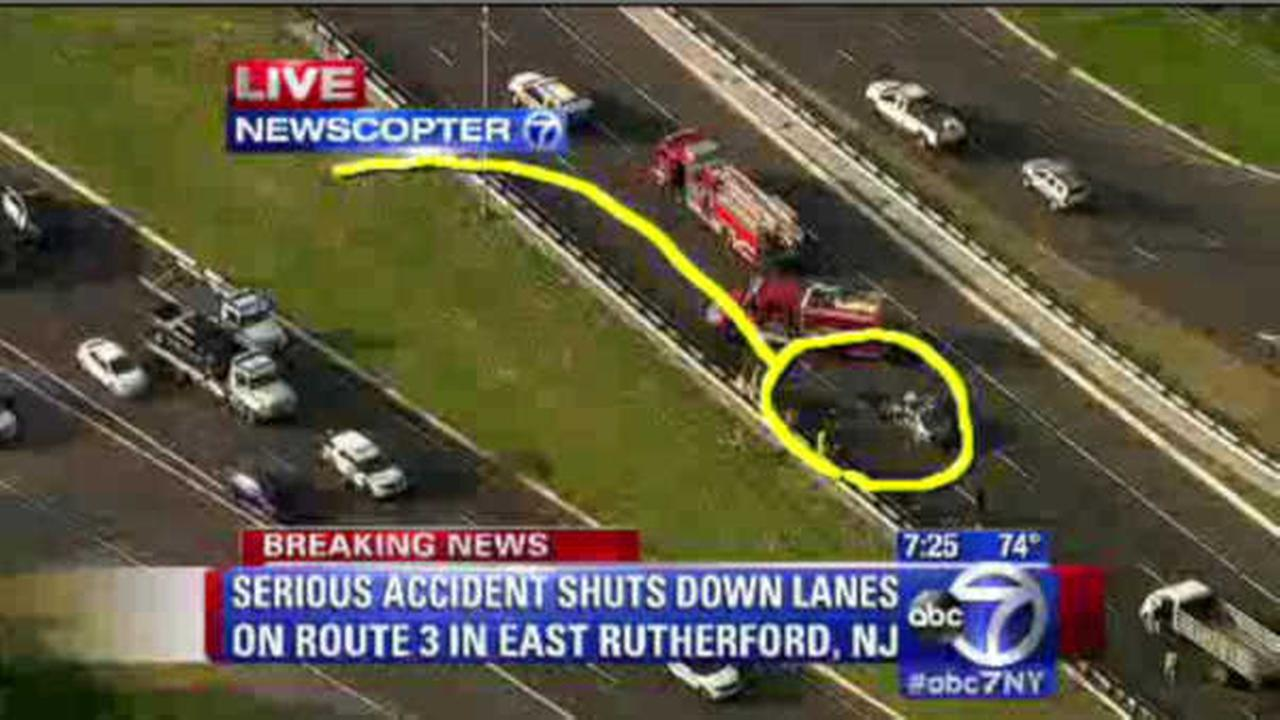 Driver injured in 5-vehicle crash on Route 3 n East Rutherford