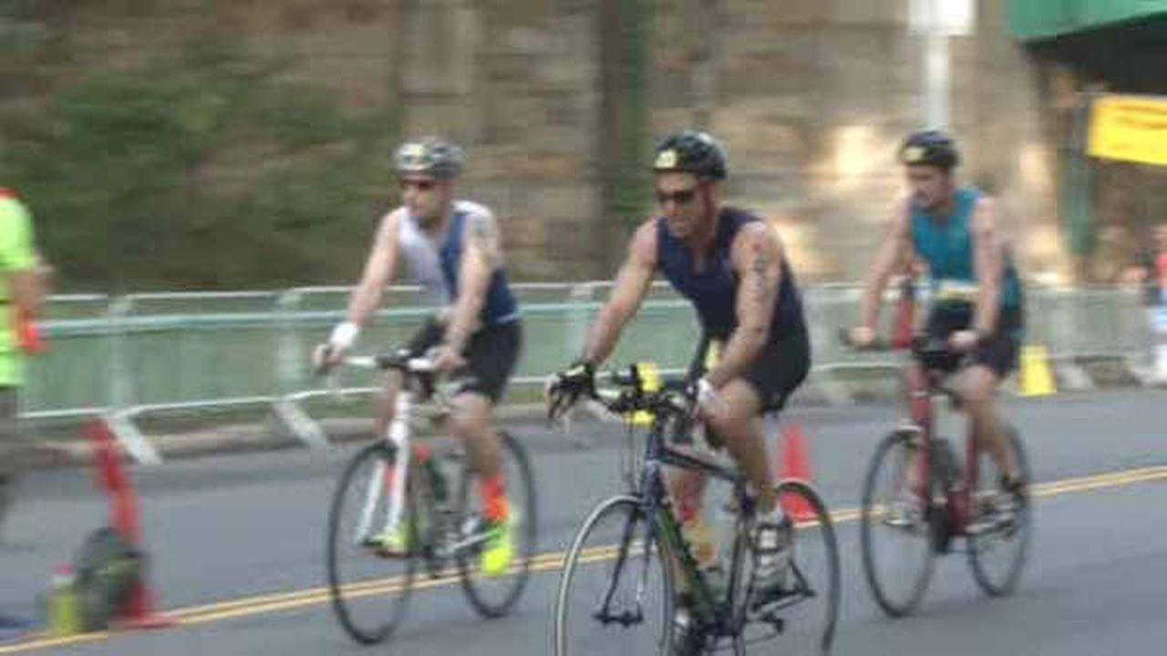 Thousands compete in NYC Triathlon; some street closures
