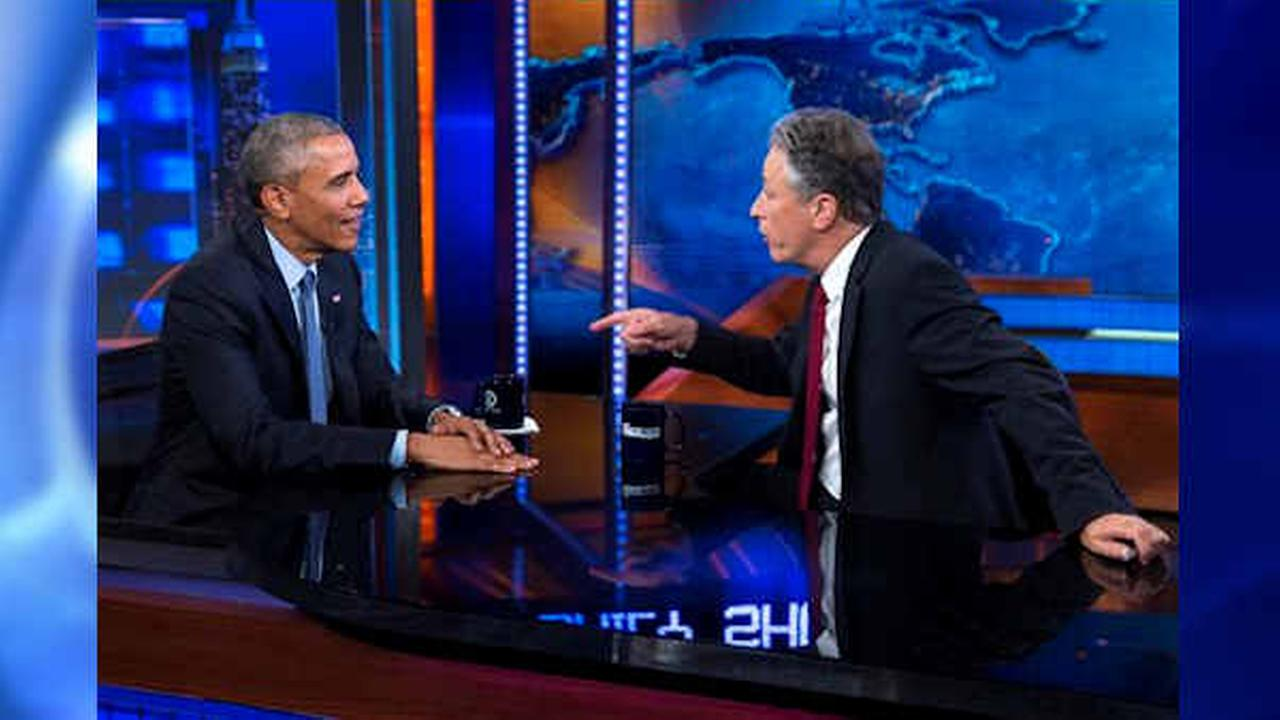 President Obama returns to New York City for 'Daily Show' taping with Jon Stewart