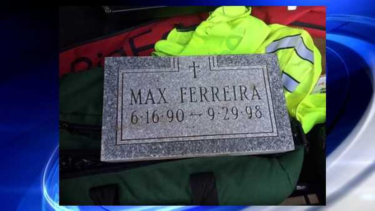 Police looking for answers after mysterious gravestone for 8-year-old turns up at bus terminal