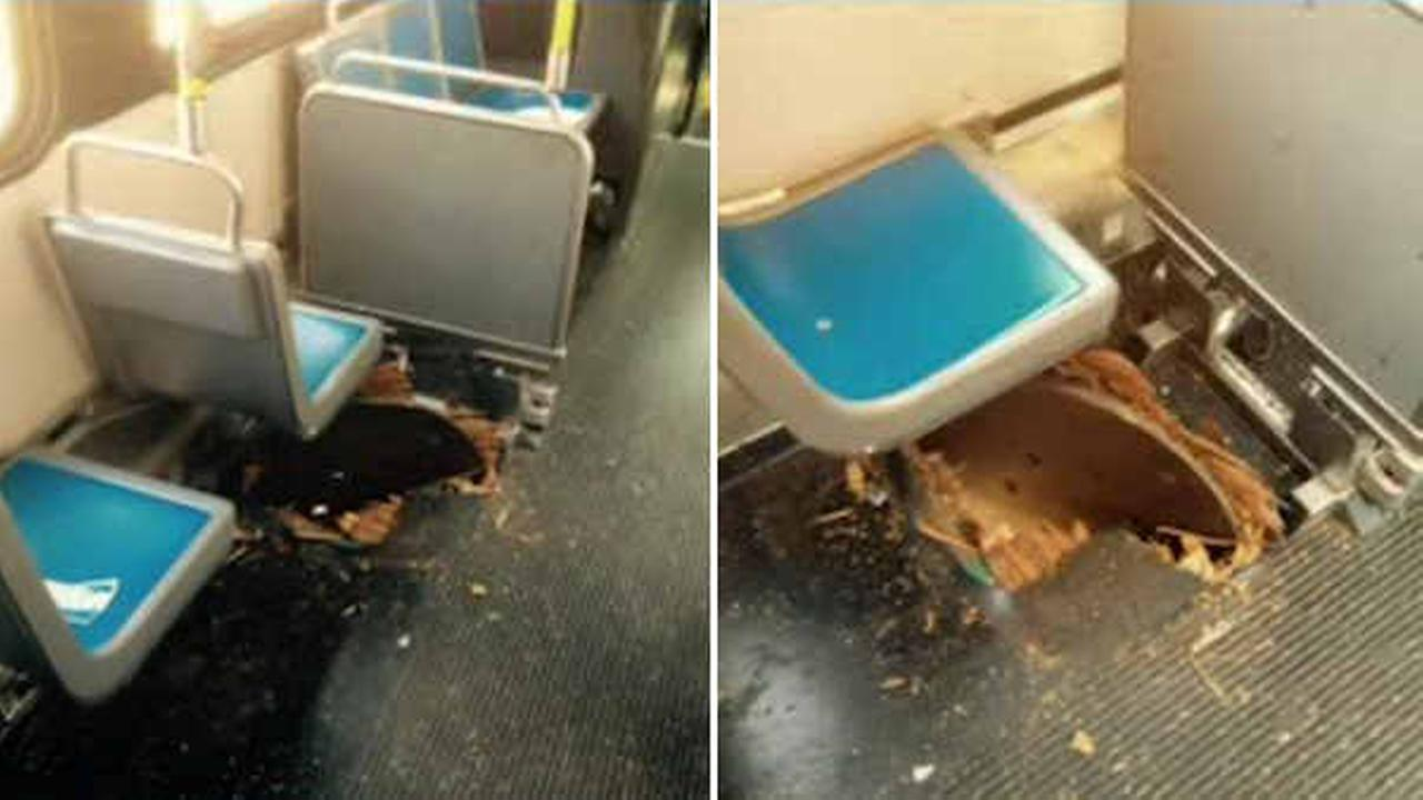 Manhole cover rips through MTA bus in the Bronx