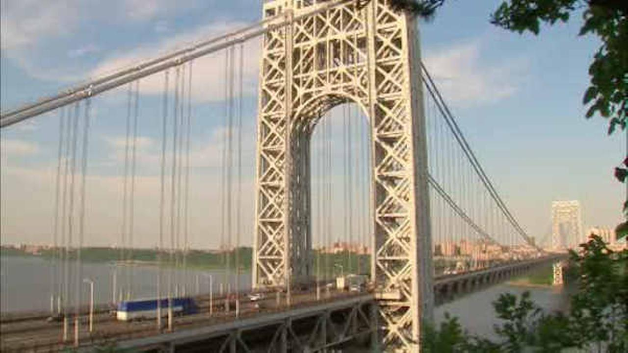George Washington Bridge overnight lane closures start Monday night