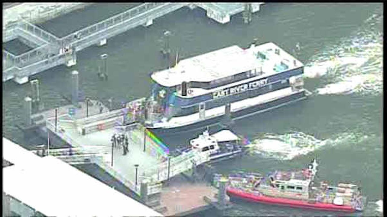East River ferry makes hard landing at Pier 11 in Lower Manhattan
