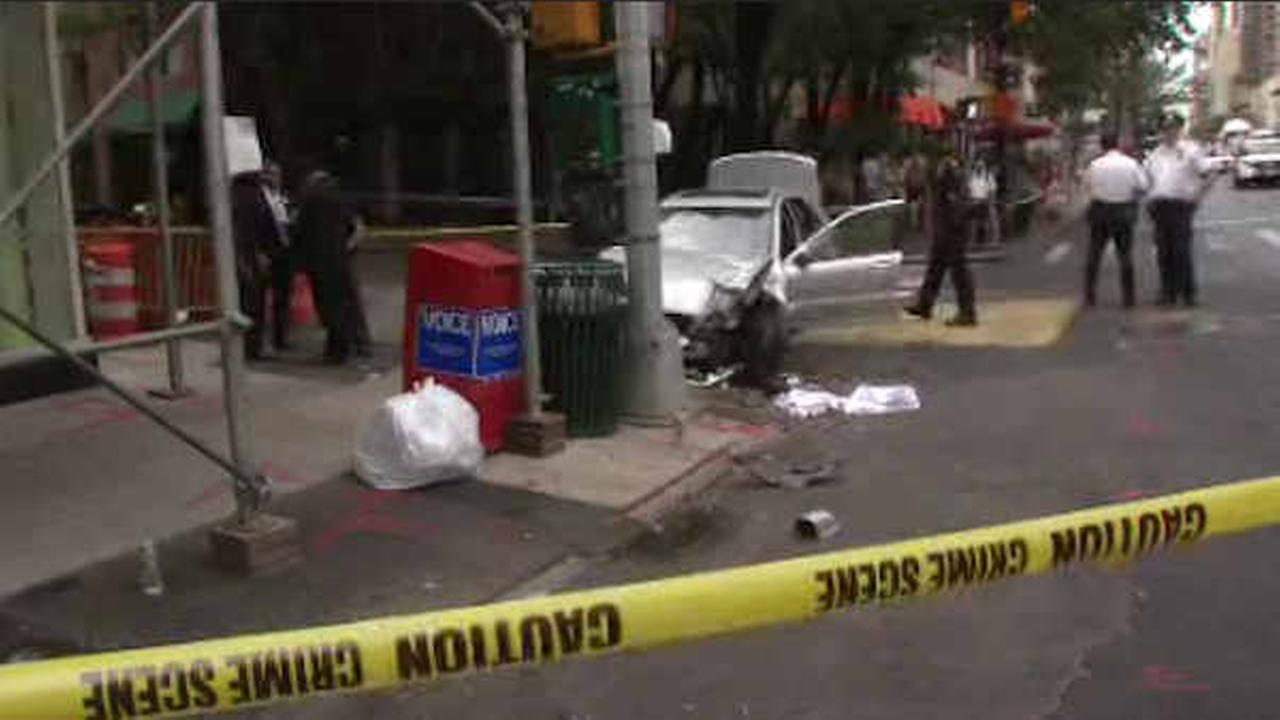 Police identify young woman killed when car jumped curb on East Side of Manhattan