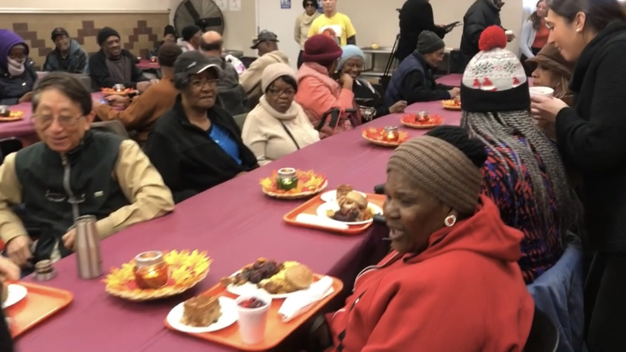 Thanksgiving comes early at Harlem community kitchen