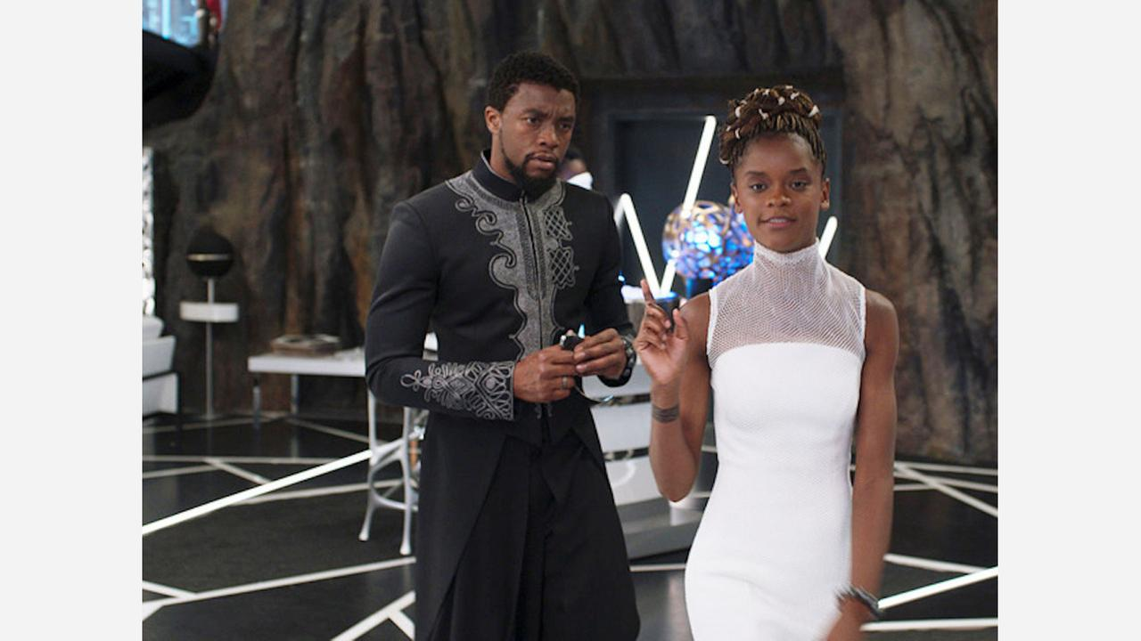 Chadwick Boseman and Letitia Wright in Black Panther. | Photo: Marvel Studios