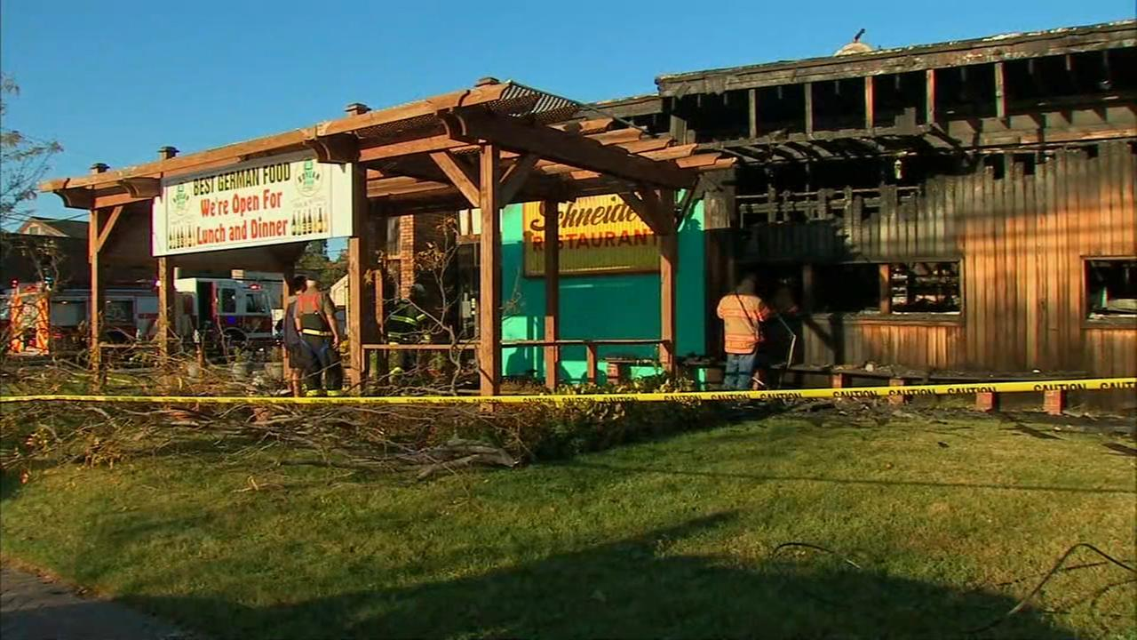 Fire rips through Schneider's Restaurant in Avon, New Jersey