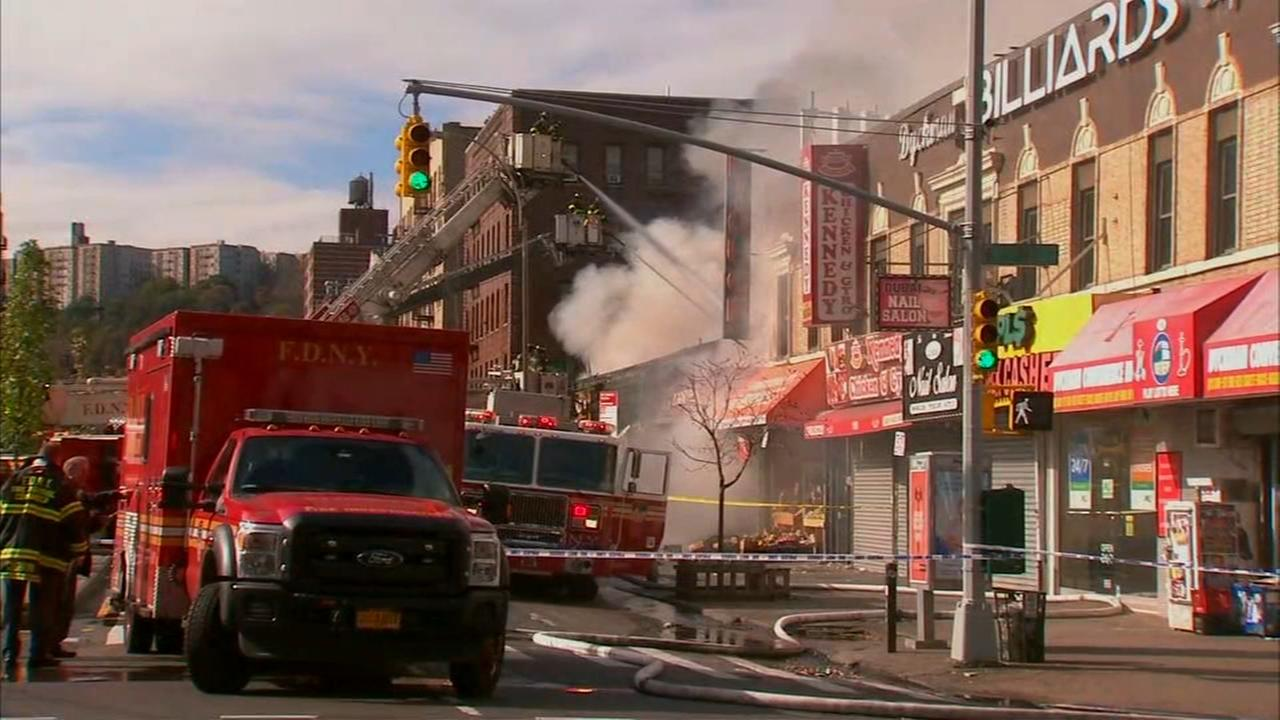 Fire that destroyed row of stores in Inwood caused by sparks from saw blade