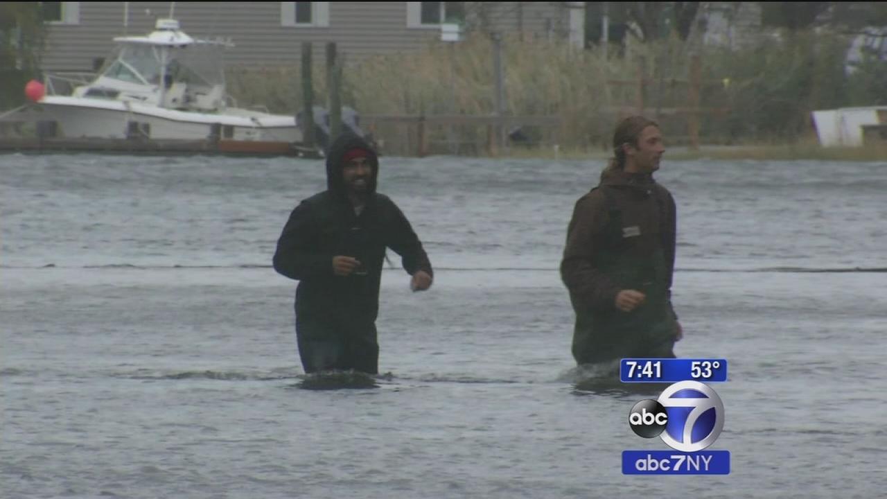 Coastal storm battering New Jersey coast