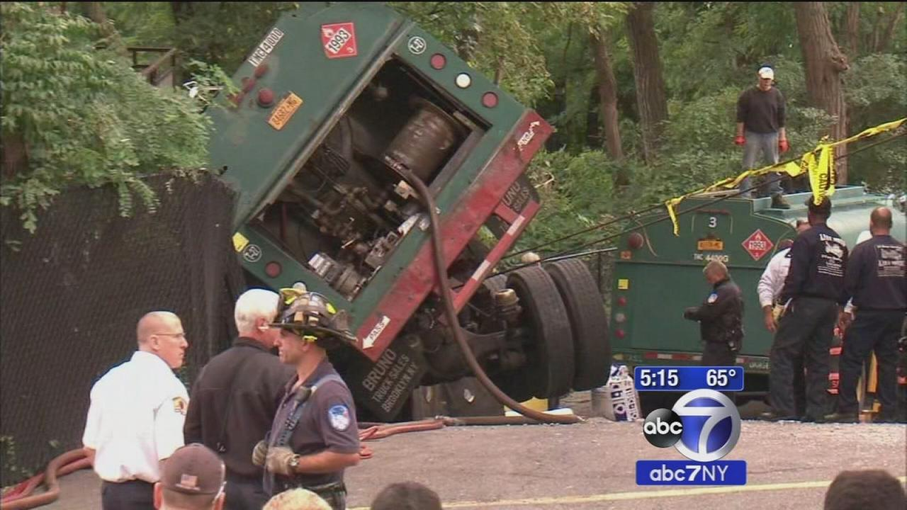 Out-of-control tanker truck spills fuel on Yonkers street