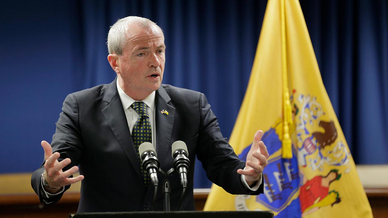 New Jersey Gov. Phil Murphy speaks to reporters in Newark, N.J., Monday, Oct. 15, 2018.