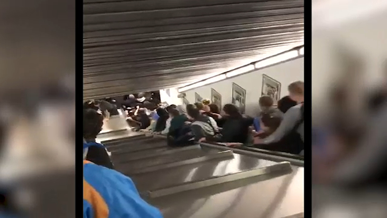 Rome escalator accident leaves 20 Russian soccer fans injured