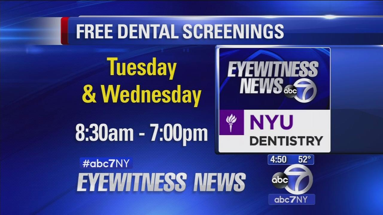 NYC Colleges of Dentistry and Nursing offer free health screenings