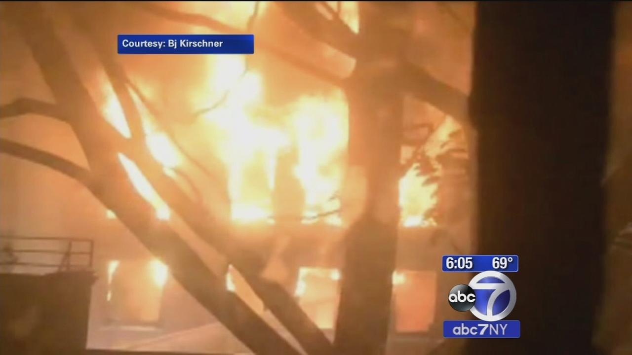 6-alarm fire tears through Chelsea building, prompts evacuations due to collapse concerns