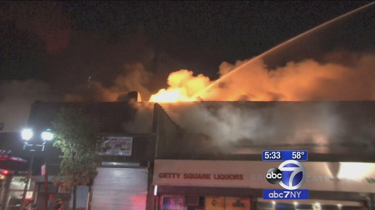 Fire under control in downtown Yonkers on South Broadway; historic church saved