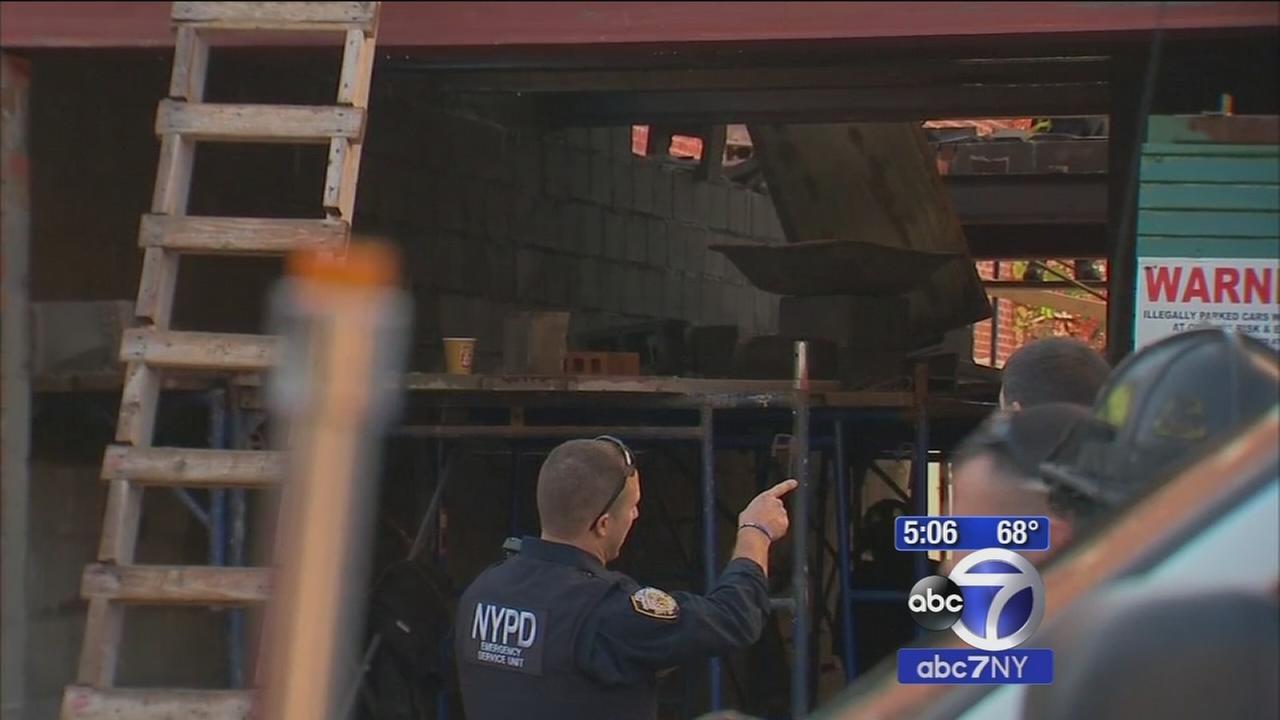 Building collapses in Astoria