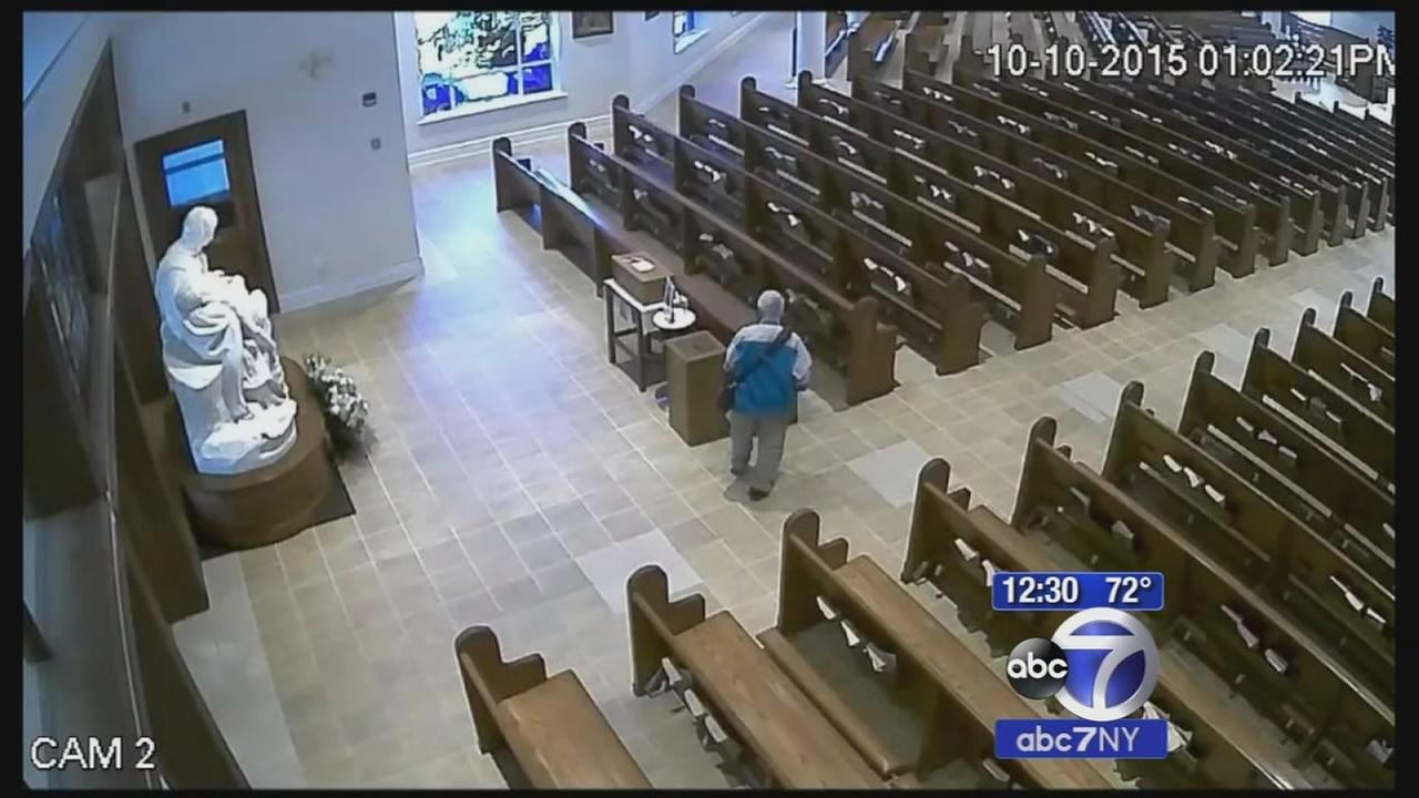 Theif steals from church