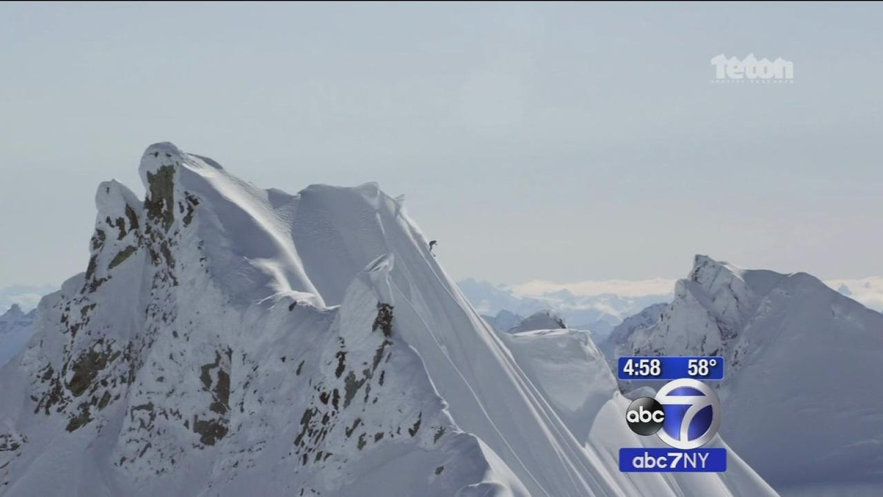 Professional skier falls down mountain