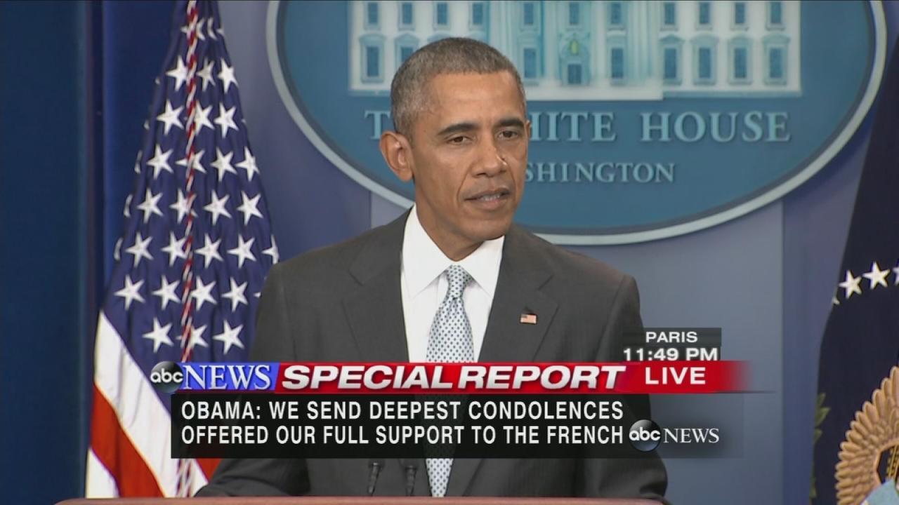 President Obama address Paris attacks