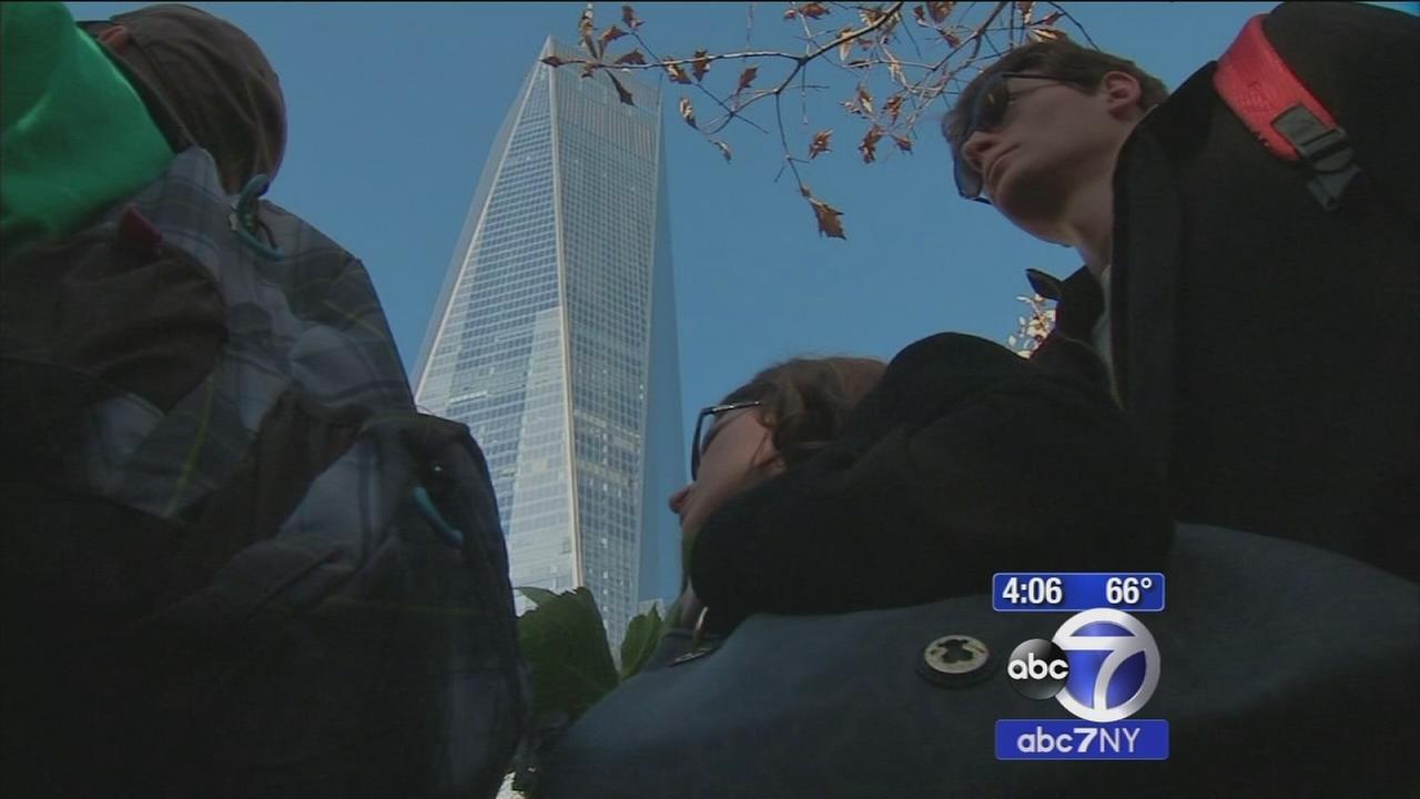 Paris terror victims honored at 9/11 Memorial Site