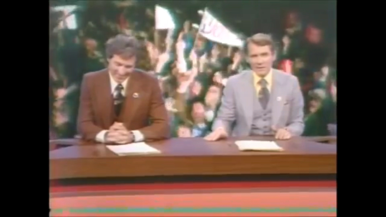 Eyewitness News coverage of the Yankees winning their first AL pennant in 12 years on Thursday, Oct. 14, 1976.