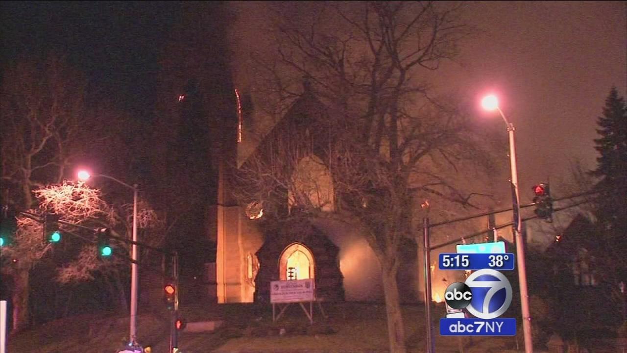 200-year-old church burns in massive ovrenight fire