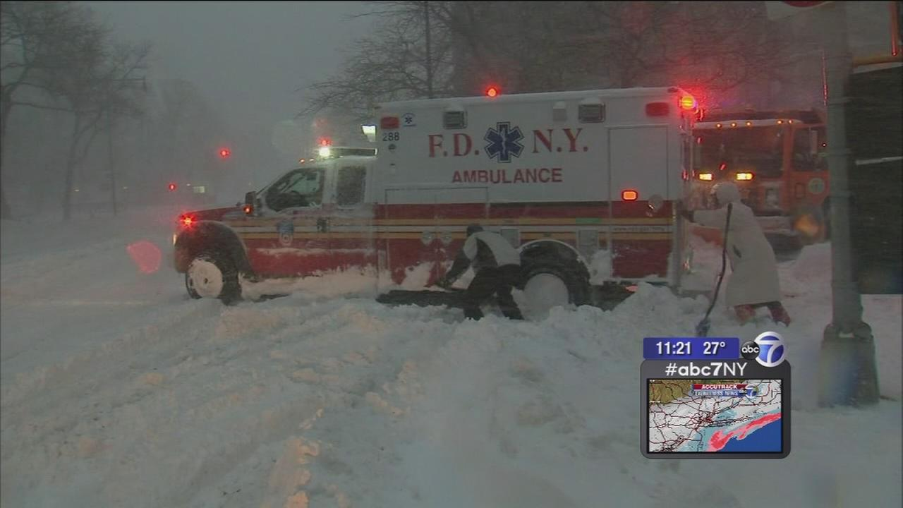 The pitfalls of trying to get through snow-covered streets