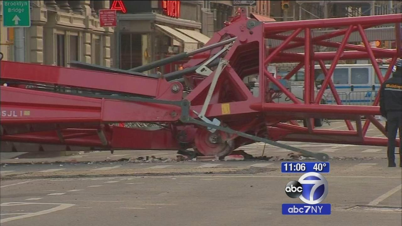 A couple blocks in TriBeCa to remain closed as crane cleanup continues