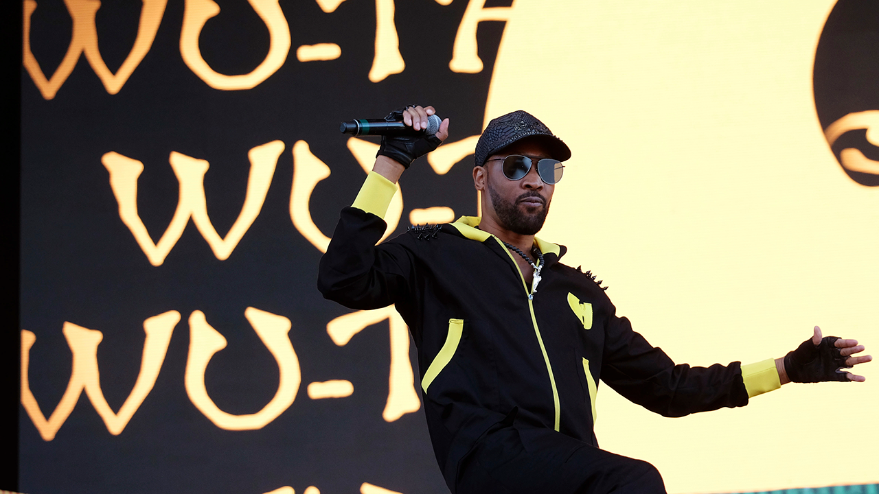 RZA from the hip hop group the Wu-Tang Clan performs on day two of the Governors Ball Music Festival on Saturday, June 3, 2017, in New York.