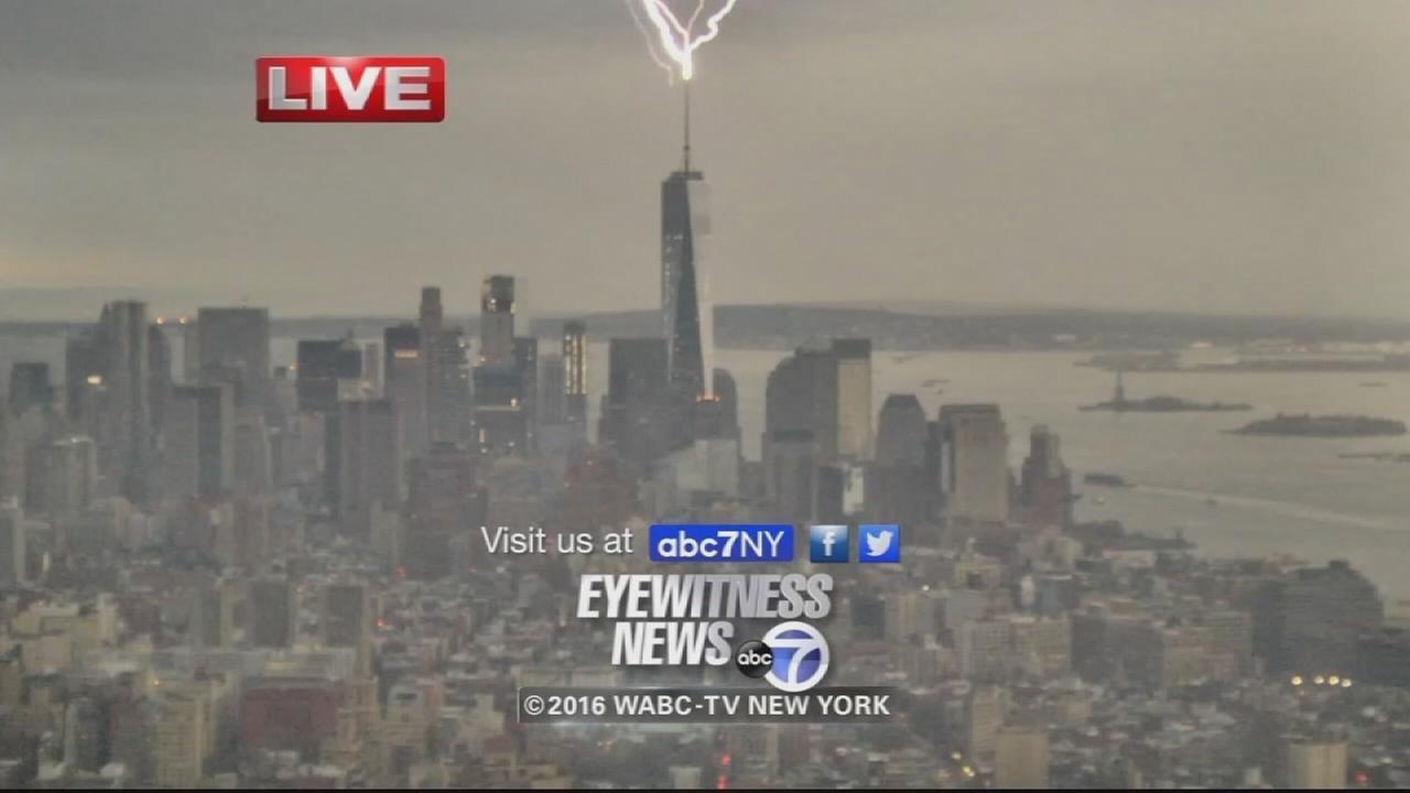 World Trade Center hit by lightning during Eyewitness News