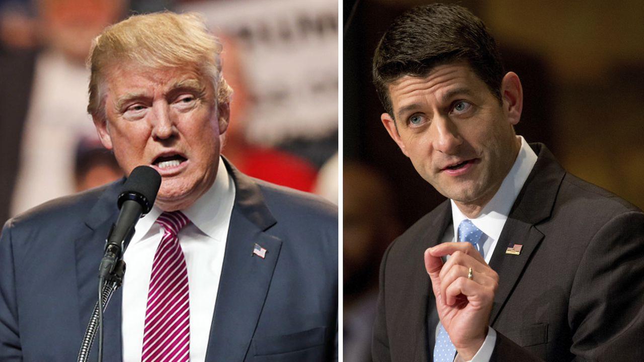 Republican House Speaker Paul Ryan announces he'll vote for Donald Trump