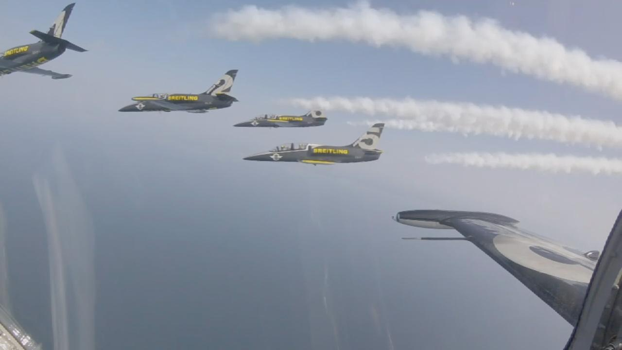 Flight with Breitling Jet Team