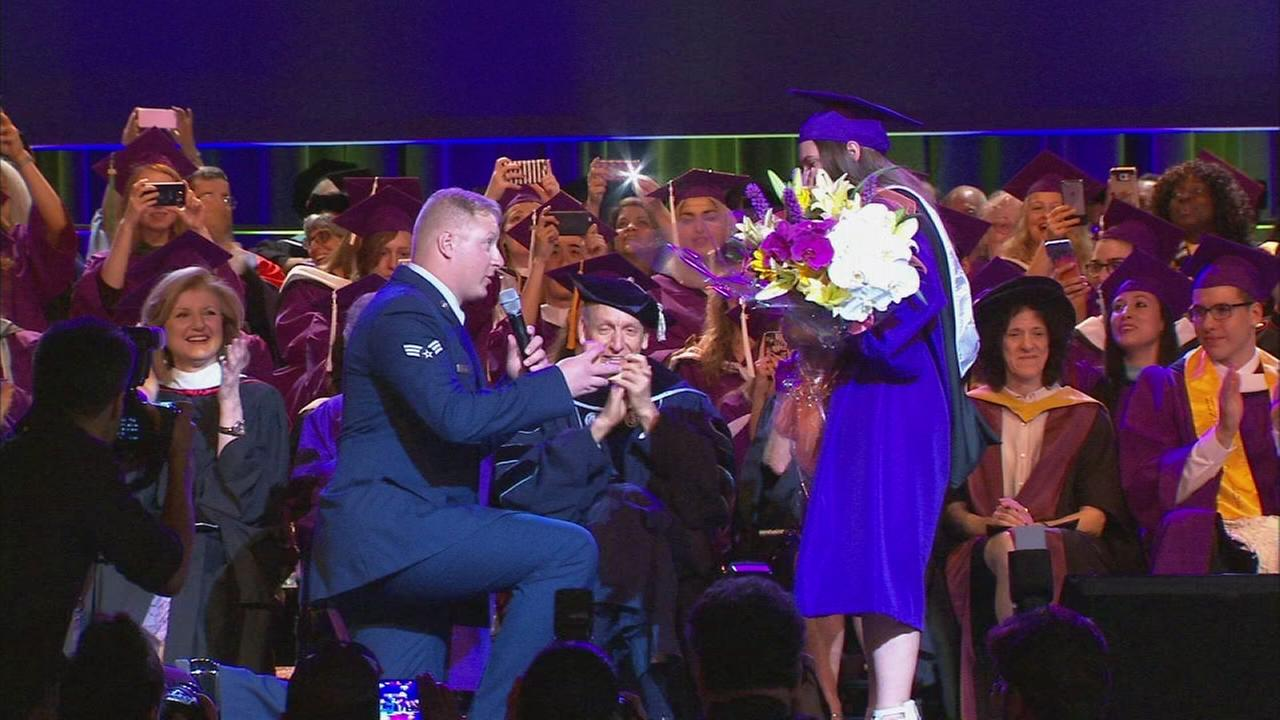 Airman proposes to girlfriend at graduation ceremony