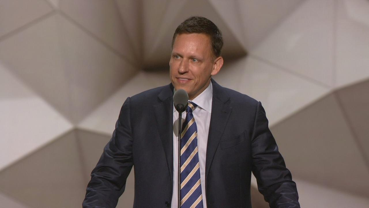 Peter Thiel speaks at RNC