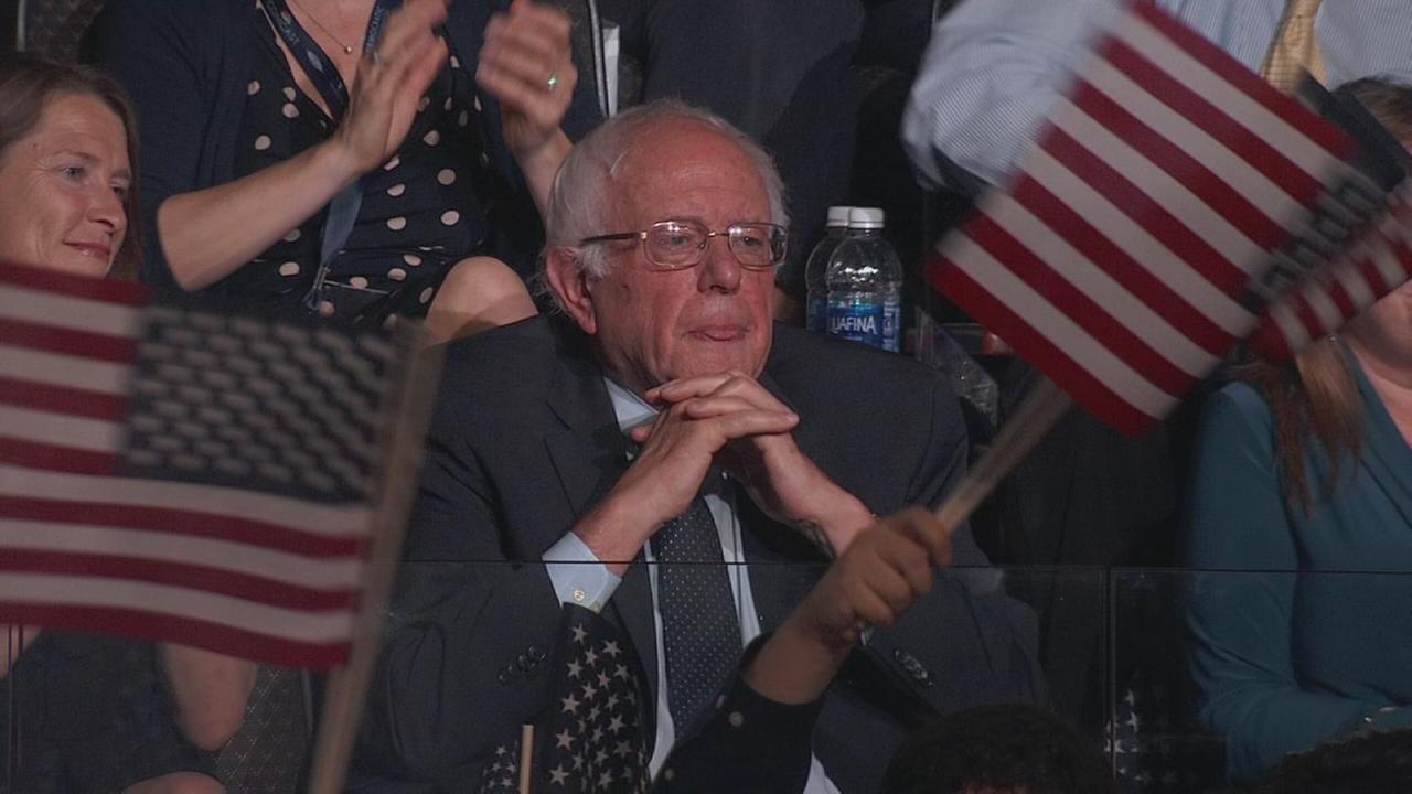DNC: Hillary thanks Bernie at DNC