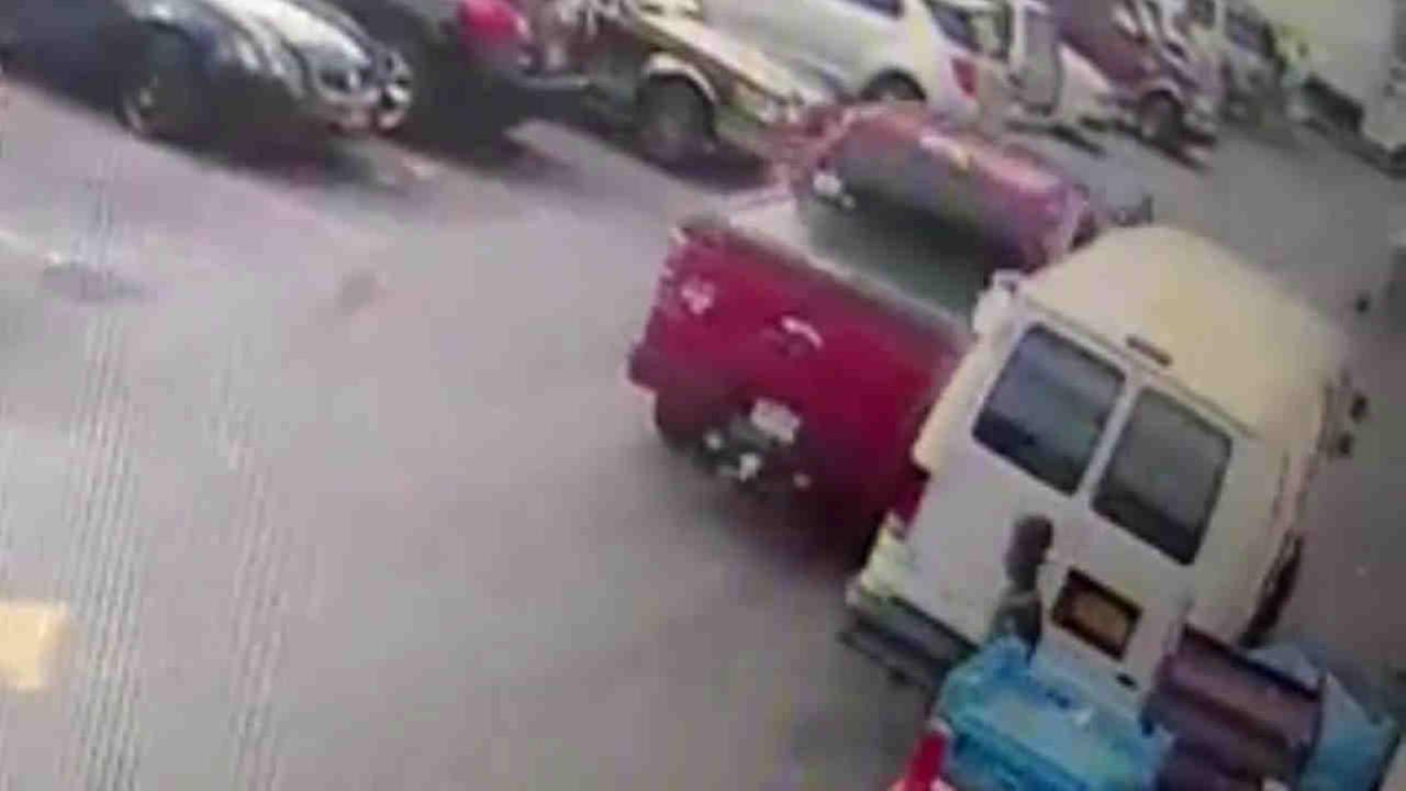 Police are looking for a driver suspected in a hit-and-run at a Bronx supermarket this week.