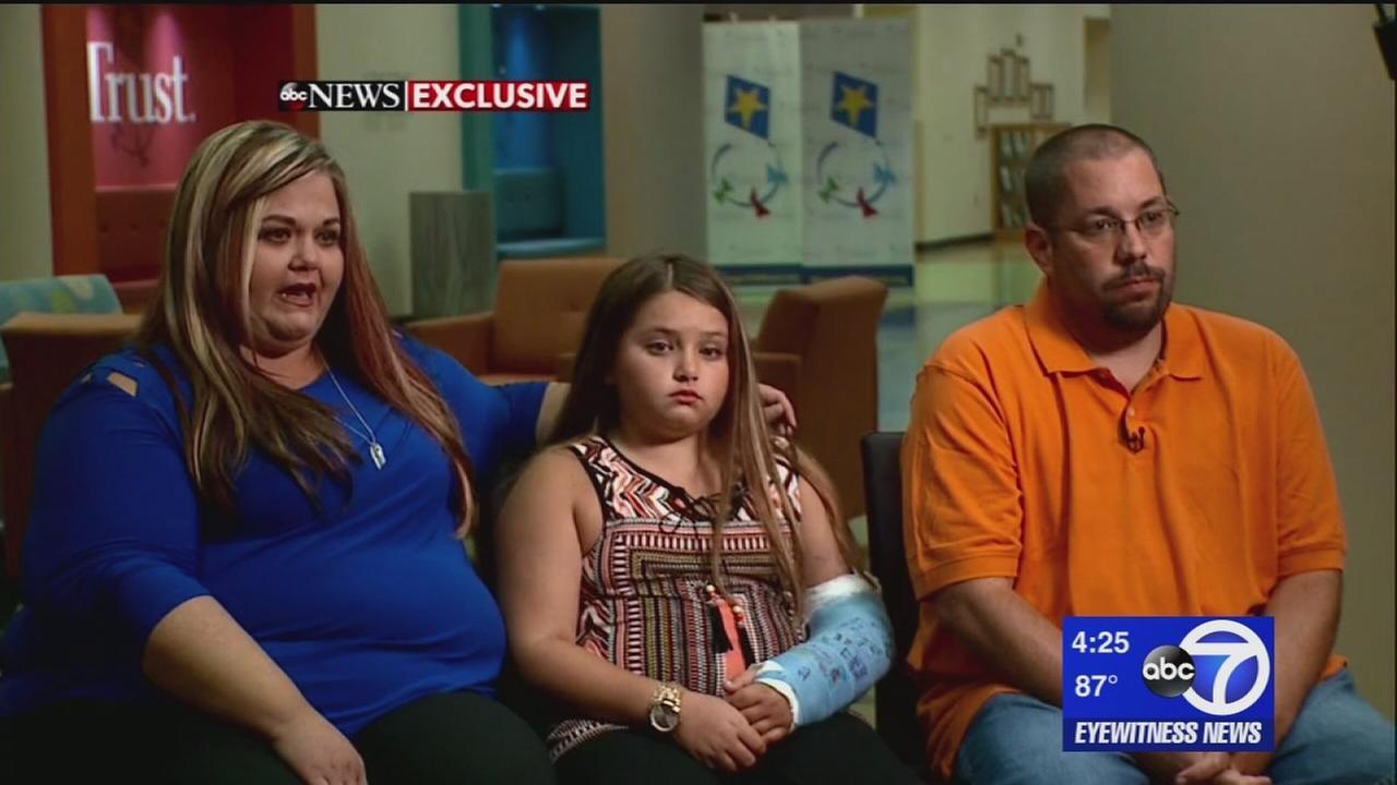 10-year-old girl injured in freak Ferris wheel accident speaks out
