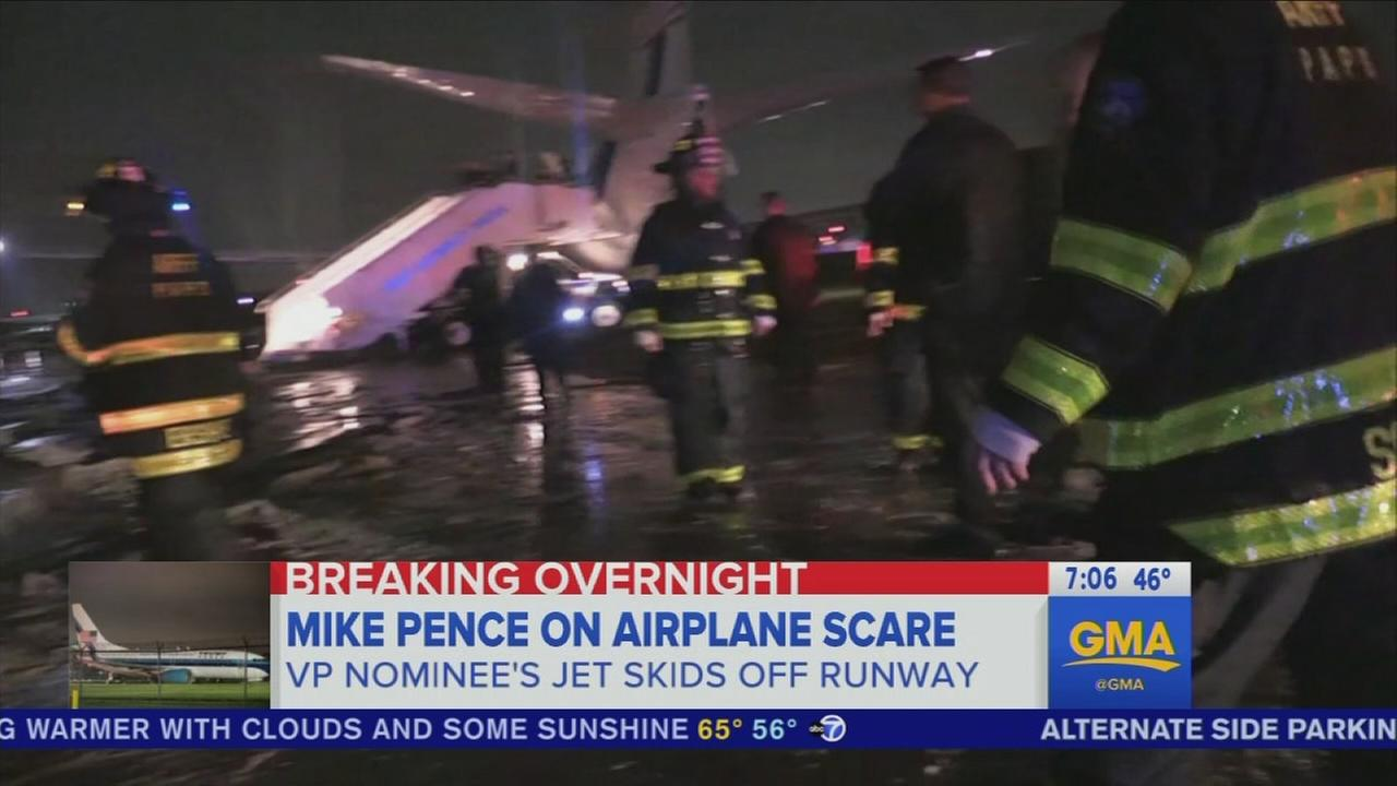 Mike Pence talks about plane landing at LGA