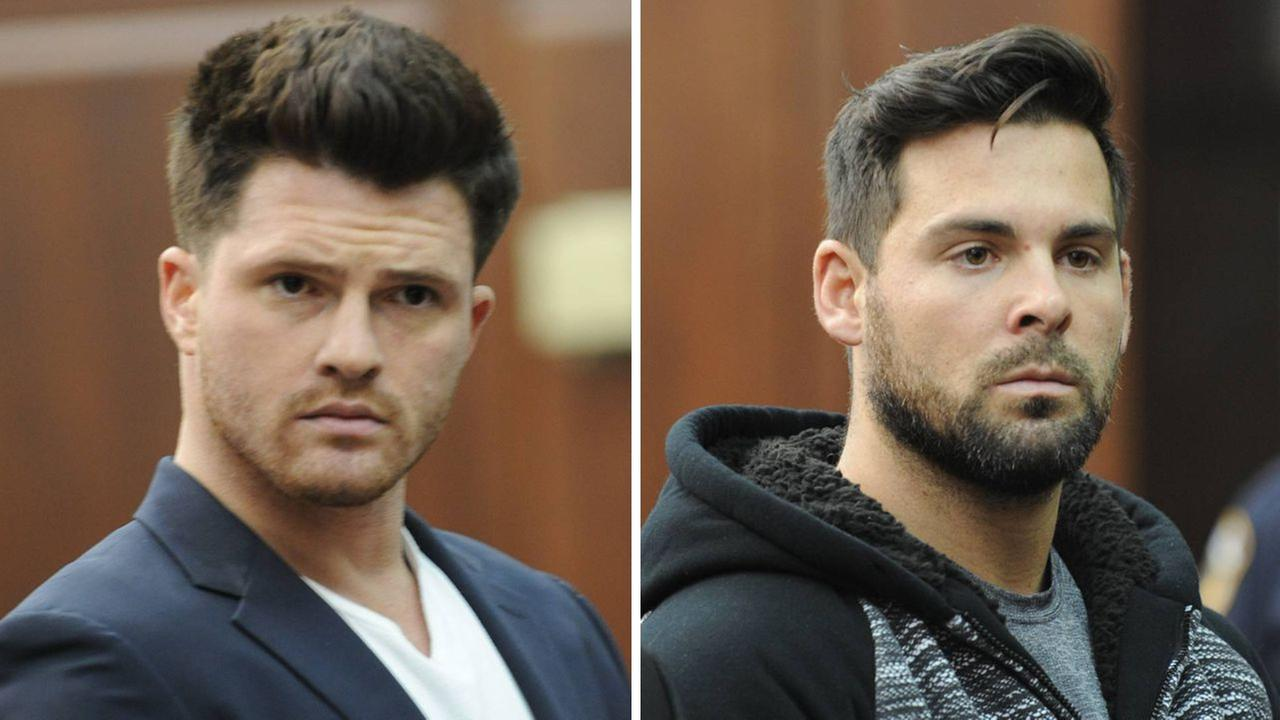 James Rackover (left) and Lawrence Dilione (right) were arraigned in a Manhattan courtroom.