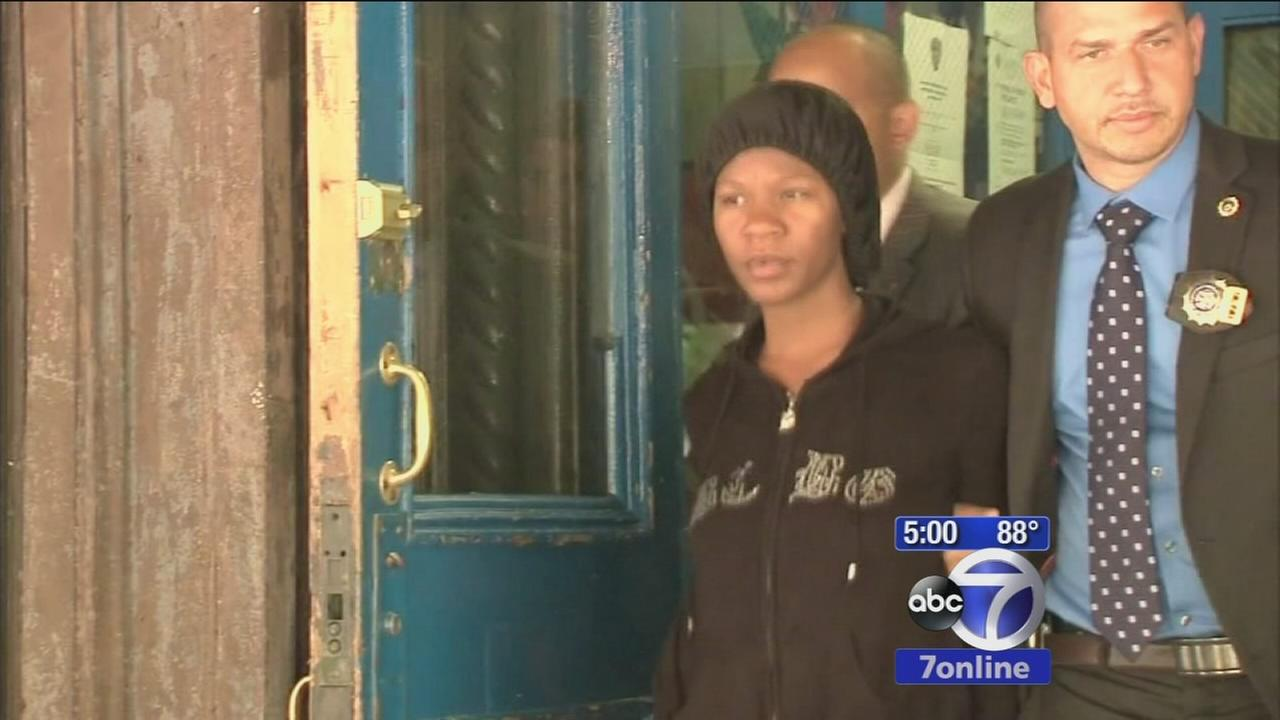 Subway baby mom arraigned; Dad says she saw boyfriend murdered