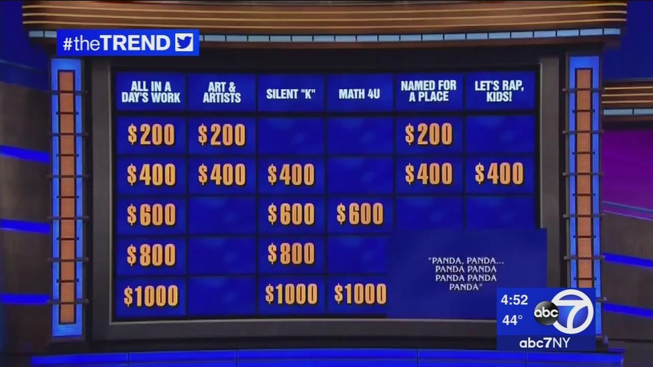 The Trend: Alex Trebek raps during College Week on Jeopardy