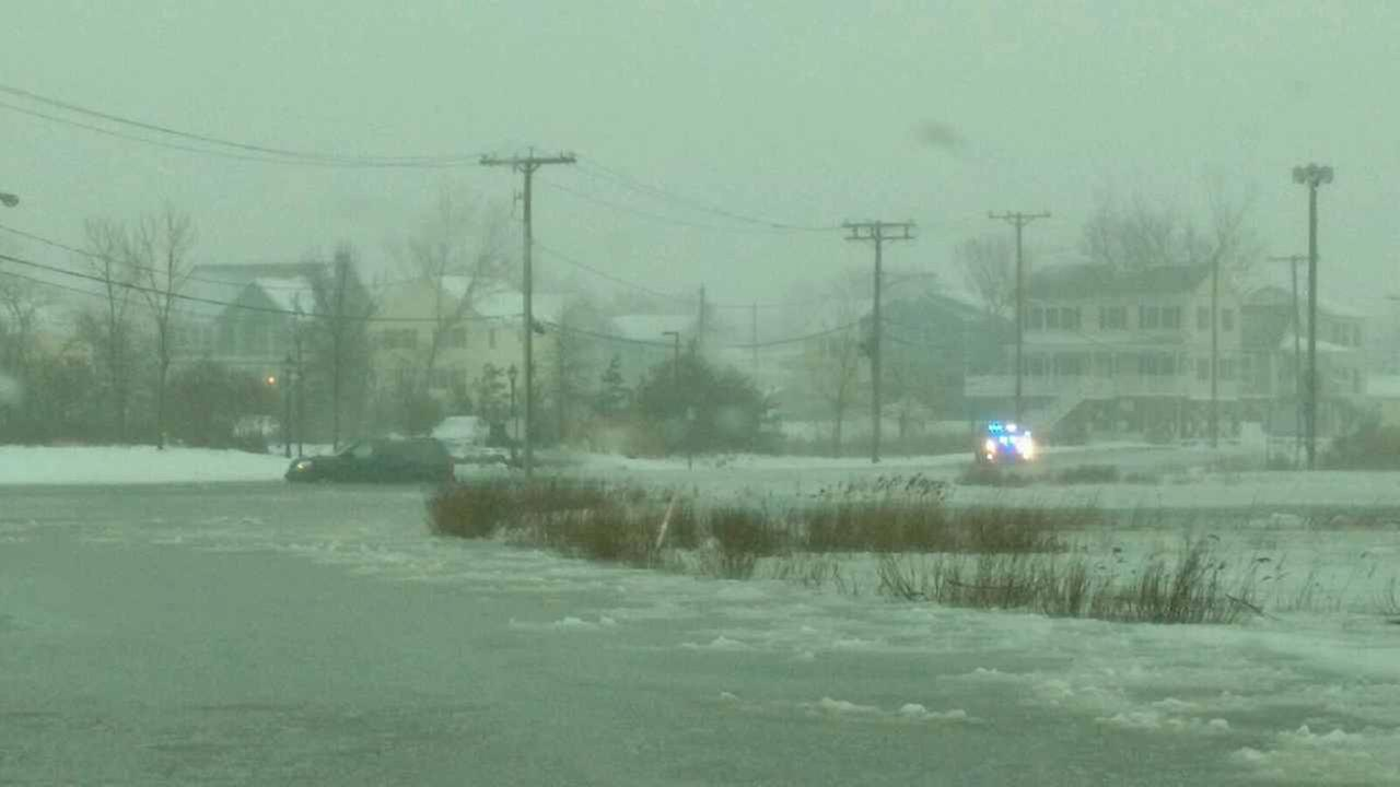 Union Beach is experiencing normal flooding conditions during high tide. Police rescued someone from a vehicle at Union and Front streets after the driver went through high water.