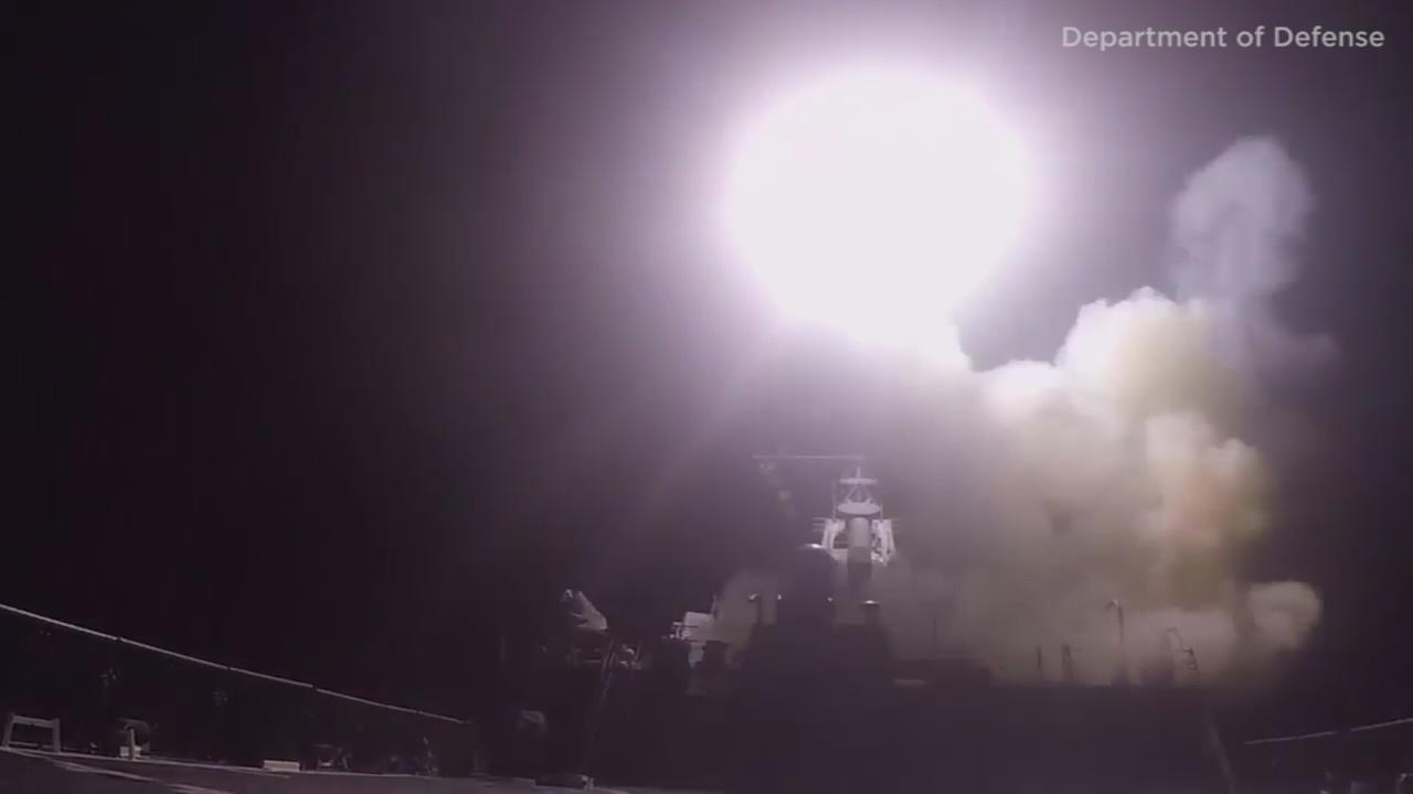 Watch: U.S. fires cruise missiles from destroyer
