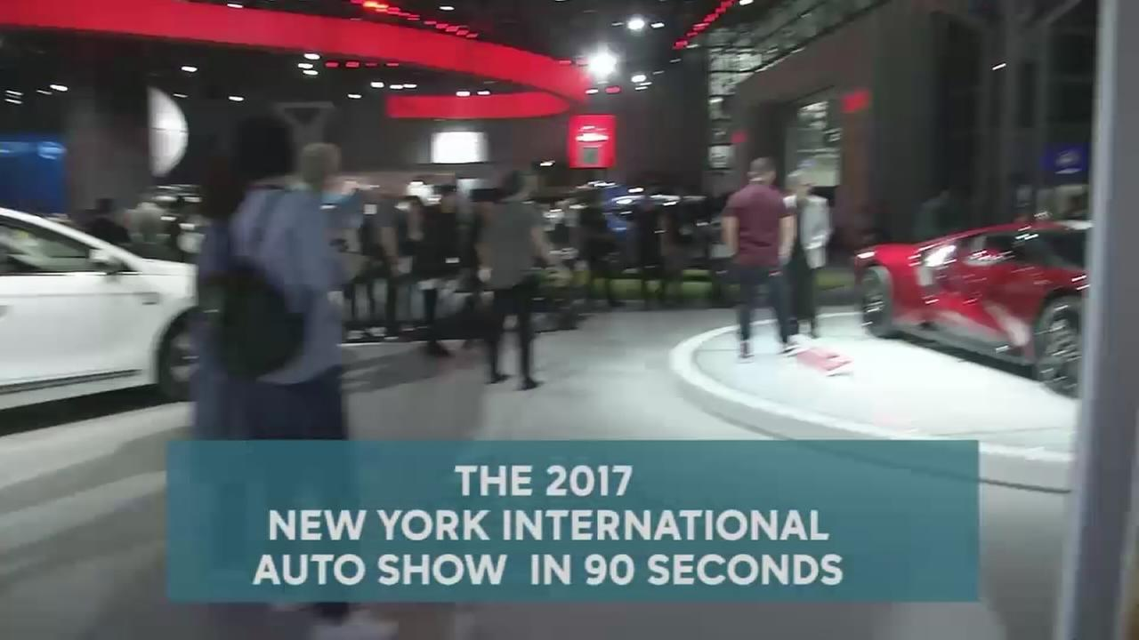 Check out the New York International Auto Show in 90 seconds